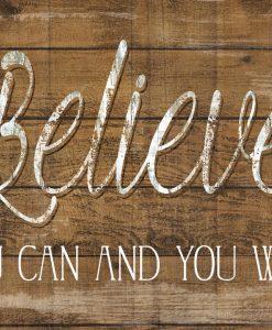 """Frase motivazionale """"believe"""""""