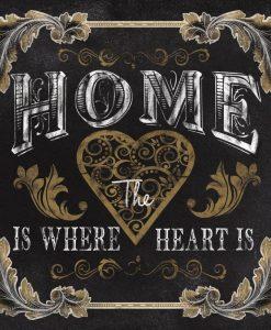 """Messaggio """"La casa è dove c'è chi amiamo"""""""