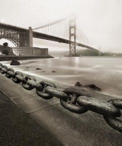 Il Golden Gate Bridge visto da una delle sponde
