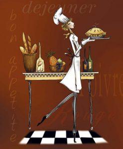 Chef leggiadra con torta