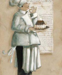 Chef francese con torta