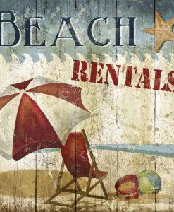 Cartello spiaggia vintage