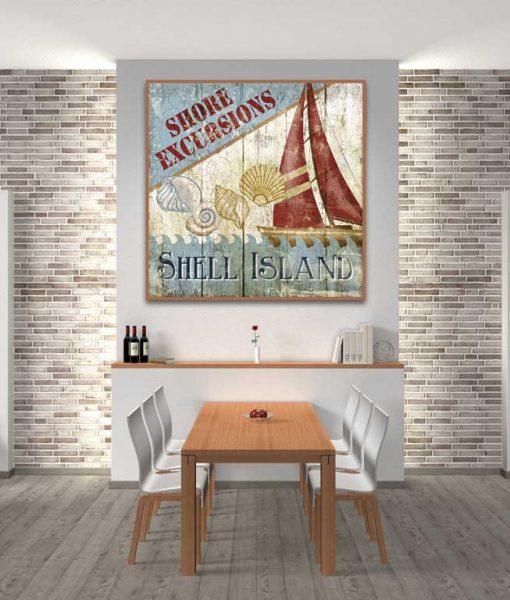 Cartello escursioni marittime vintage