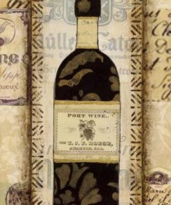 Composizione con bottiglia di vino rosso