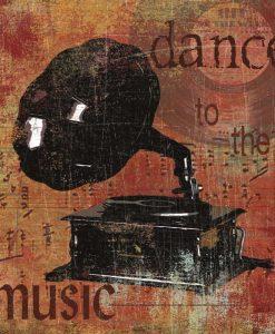 Composizione vintage con grammofono