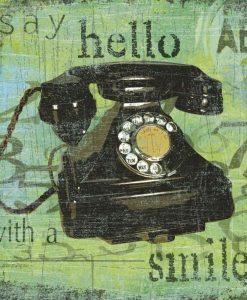 Composizione vintage con telefono