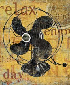 Composizione vintage con un ventilatore