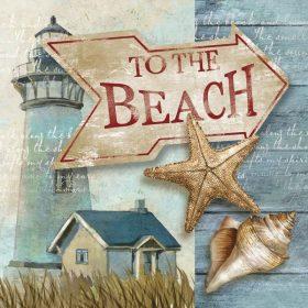 Cartello con indicazioni per la spiaggia