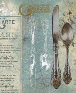 Composizione con eleganti posate d'argento
