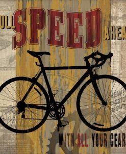 Composizione vintage con bicicletta da corsa