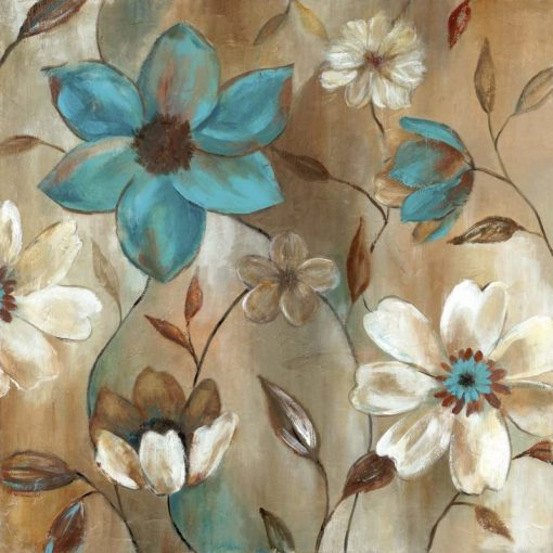 Dipinto di fiori su sfondo sfumato