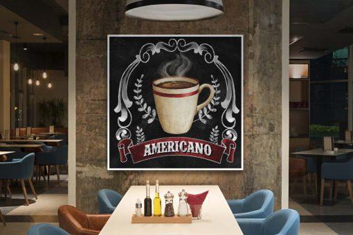 Illustrazione di una tazza di caffè effetto lavagna