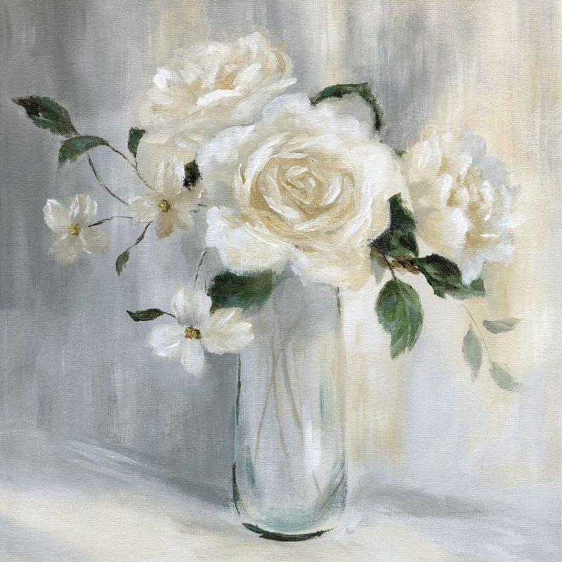 Fiori Bianchi Dipinti.Nan Carolina Springs Bouquet I Art Plus Vendita Stampe Su Tela