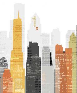 Grafica con grattacieli colorati
