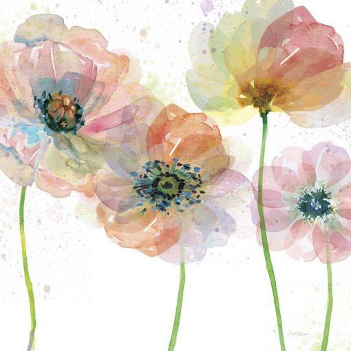 Acquerello astratto di vivaci fiori di campo