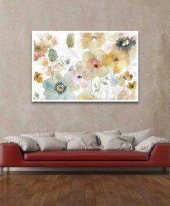 Acquerello astratto di delicati fiori di campo