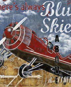 Illustrazione vintage con un aereo e messaggio