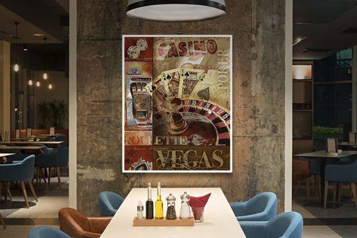 Composizione a tema casinò di Las vegas