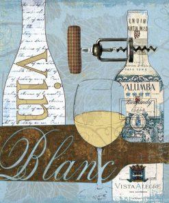Composizione con vino bianco e bicchieri