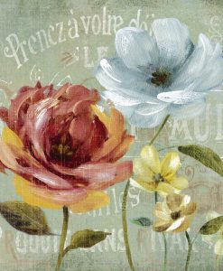 Dipinto vintage con fiori in stile francese