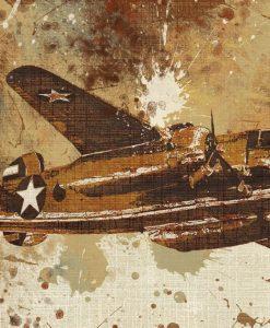 Dettaglio di un aereo vintage con effetti sfumati
