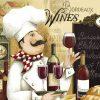 Chef che degusta del vino rosso
