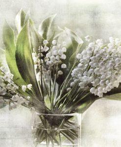 Mazzo di campanule bianche in vaso