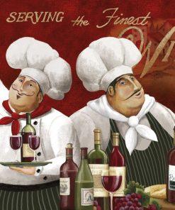 Chef che degustano del vino rosso