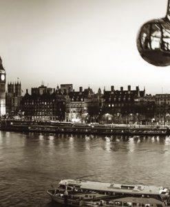 Vista del fiume Tamigi a Londra