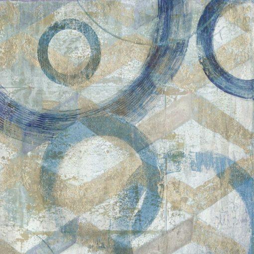 Dipinto con cerchi blu sfumati