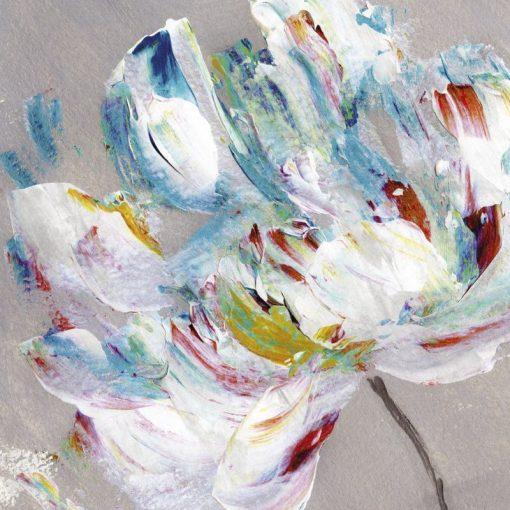 Fiore con petali composti da pennellate multicolore