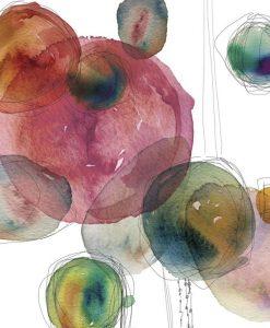 Dipinto astratto con cerchi di colori variopinti