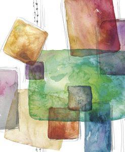 Dipinto astratto con quadrati di colori variopinti