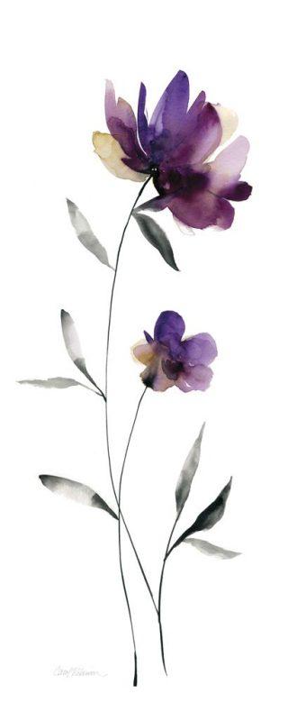 Fiori Acquerello.Carol Robinson Perfect Purple Ii Art Plus Vendita Stampe Su