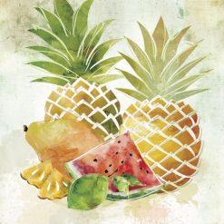 Dipinto di frutta tropicale variopinta