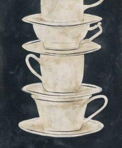 Pila di tazzine di caffè
