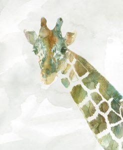 Dipinto variopinto di una giraffa
