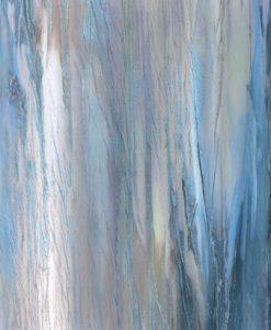 Dipinto con pennellate verticali variopinte dai colori freddi