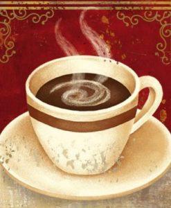 Tazzina di caffè con messaggio