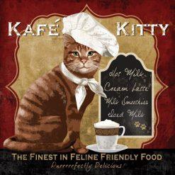 Gatto con cappello da chef con tazzina di caffè