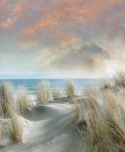 Dune di sabbia bianca in riva al mare