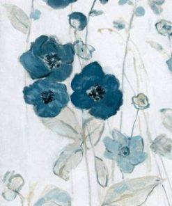 Delicato dipinto di fiori di campo dalle sfumature blu