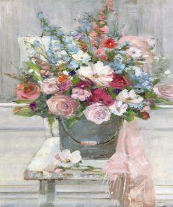 Mazzo di fiori di campagna in vaso