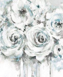 Delicato acquerello di fiori bianchi su sfondo bianco