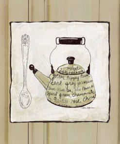 Cornice con bollitore e cucchiaio