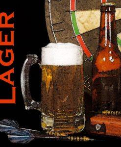 Bicchiere di birra con freccette