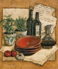 Composizione rustica a tema cucina