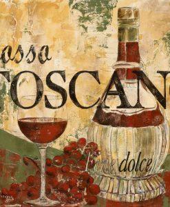 Composizione a tema vino italiano con effetto affrescoComposizione a tema vino italiano con effetto affresco