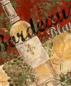 Composizione a tema vino con effetto affresco