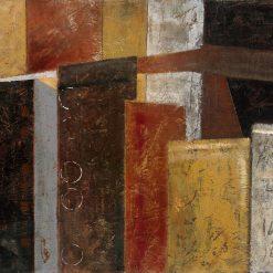 Dipinto di palazzi astratti